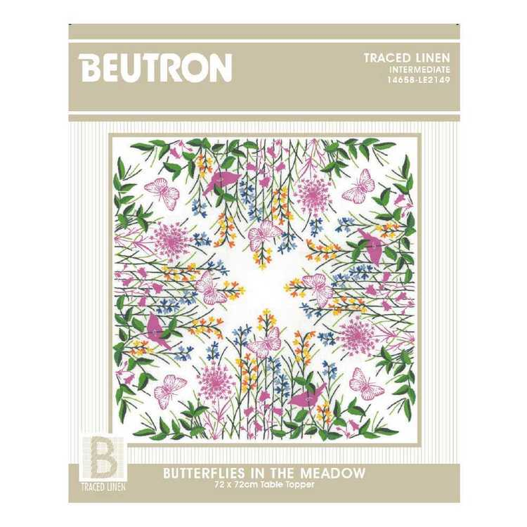Beutron Butterflies In The Meadow Topper Embroidery Kit Multicoloured