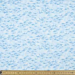 Ocean State Tiny Sharks Cotton Fabric