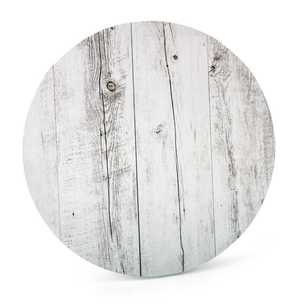 Mondo Round Wood Grain Cake Board