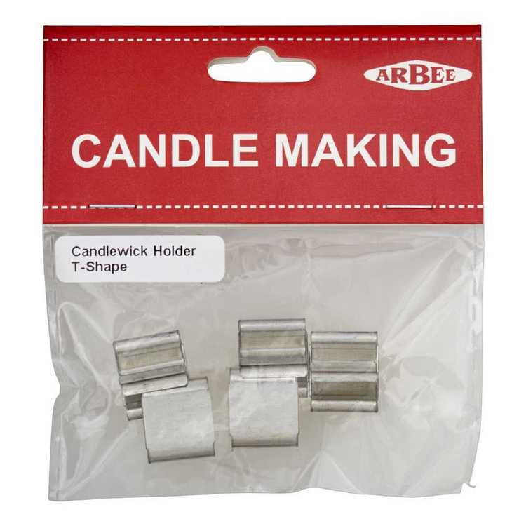 Arbee T-Shape Candlewick Holder Silver 15 x 13 mm