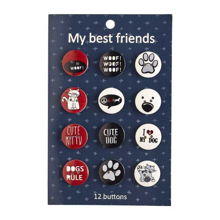 My Best Friend Dog Buttons