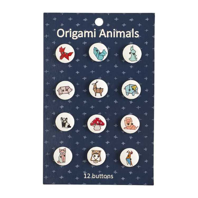 Origami Animal Buttons