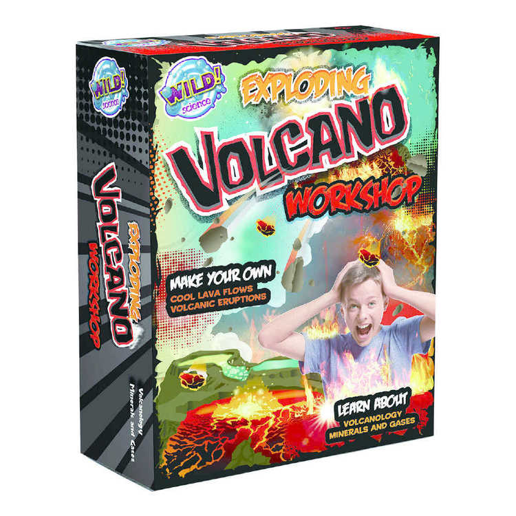 Wild Games Exploding Volcano Workshop Multicoloured