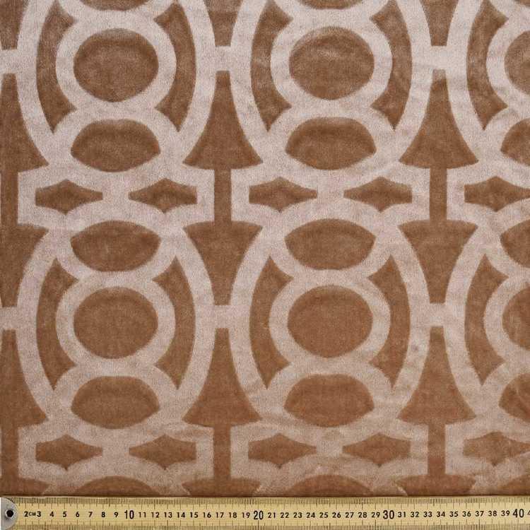 Lattice Burnout Velvet Upholstery Fabric