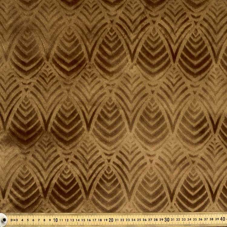 Shell Burnout Velvet Upholstery Fabric