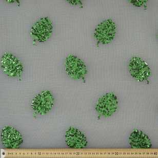 Leaf Motif Sequin Fabric