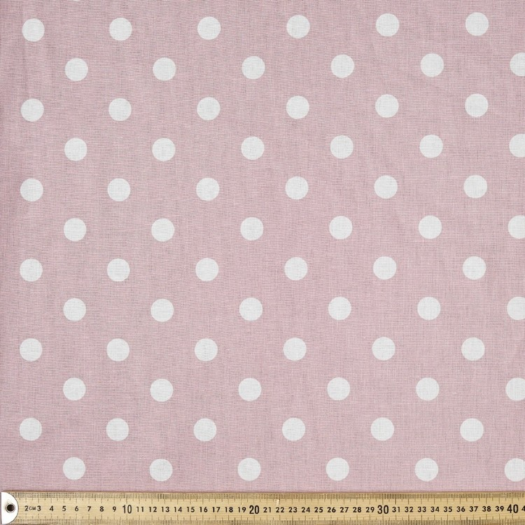 Spot Printed Cotton Linen Fabric