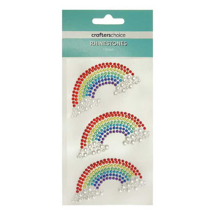 Crafters Choice Rhinestone Rainbow Stickers