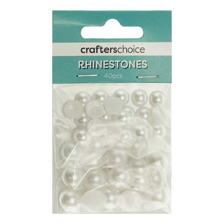 Crafters Choice Dome Pearl Rhinestone Gems Pack