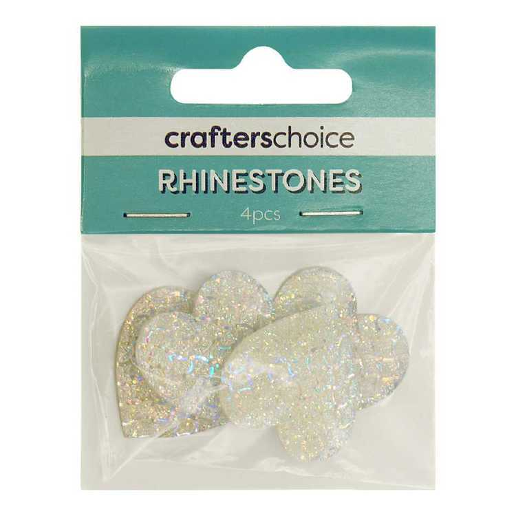 Crafters Choice Stick-On Heart Rhinestone Gems Pack