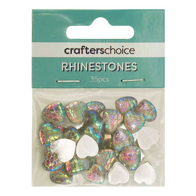 Crafters Choice Heart Rhinestone Scales Pack