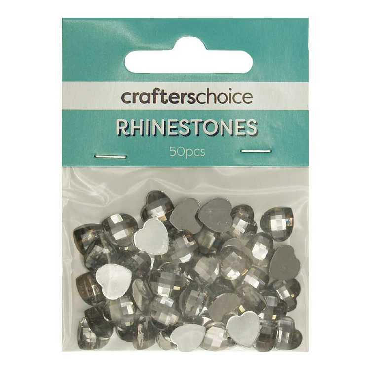 Crafters Choice Stick On Rhinestones Gems Pack 50 Pieces