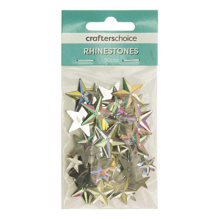 Crafters Choice Son Rhinestone Star Clear Gems