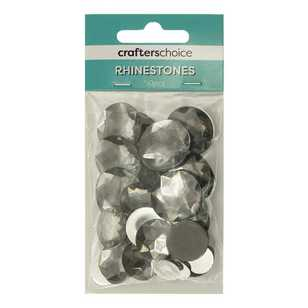 Crafters Choice Round Faceted Rhinestone Gems Assorted Pack