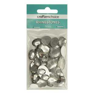 Crafters Choice Faceted Oval Rhinestone Gems 50 Pack