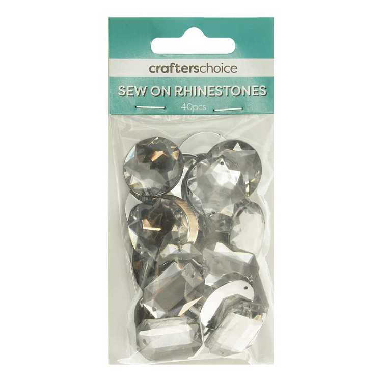Crafters Choice Sew On Rhinestone Gems Mixed Pack
