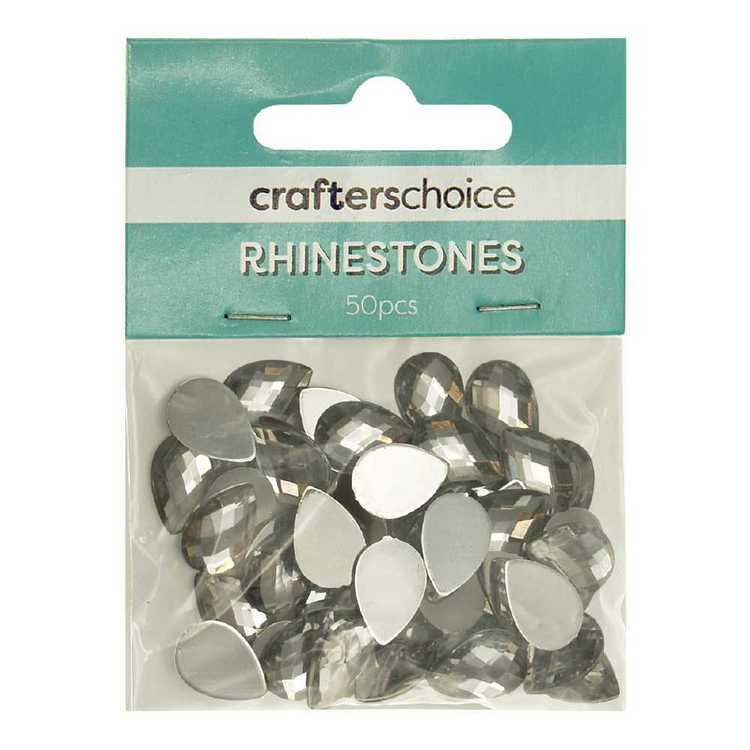 Crafters Choice Faceted Tear Drop Rhinestone Gems Pack