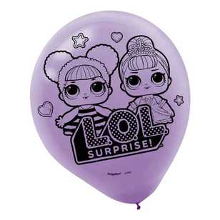 Amscan 'LOL Surprise' Latex Balloons 6 Pack