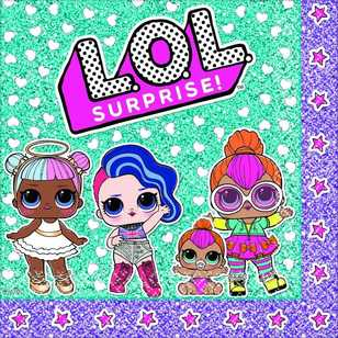 Amscan 'LOL Surprise' Lunch Napkins 16 Pack