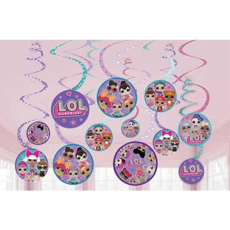 Amscan 'LOL Surprise' Spiral Decorations