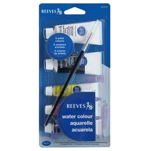 Reeves Watercolour Paint With Brush Set