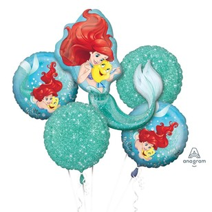 Amscan Ariel Dream Big Balloon Bouquet