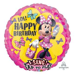 Amscan Minnie Happy Helpers Sing-A-Tune Balloon