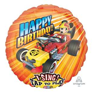 Amscan Mickey Roadster Racers Sing-A-Tune Balloon