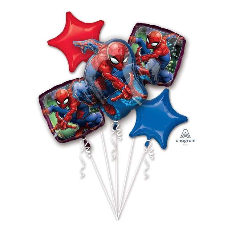 Amscan Spider-Man Webbedwonder Balloon Bouquet