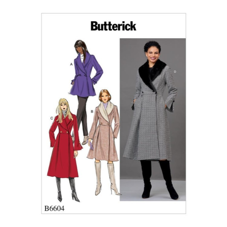 Butterick Pattern B6604 Misses' Jacket And Coat