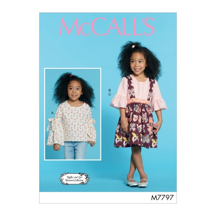 McCall's Pattern M7797 Ruffles And Lace Treasured Collection Children's & Girls' Tops And Skirt
