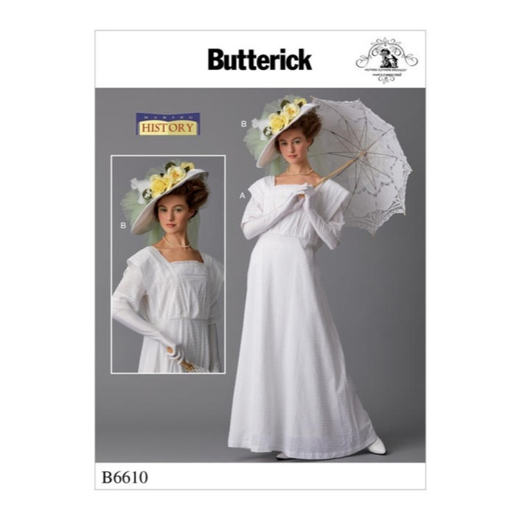 Butterick Pattern B6610 Nancy Farris-Thee Making History Misses' Costume And Hat