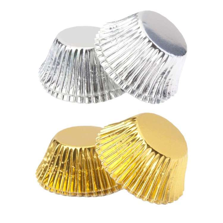 Roberts Edible Craft Foil Truffle Cups 100 Pack