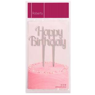 Roberts Edible Craft Cake Topper - Happy Birthday