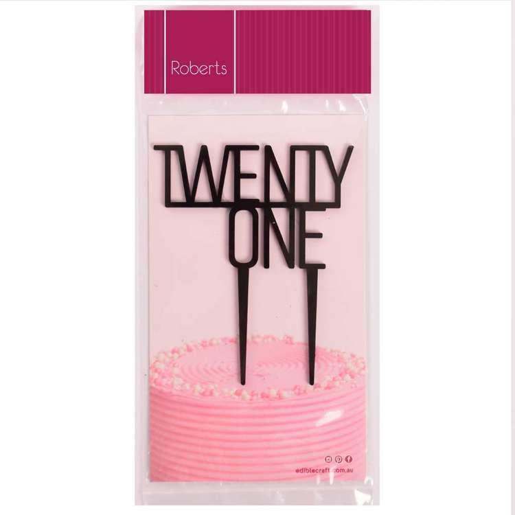 Roberts Edible Craft Cake Topper - Twenty One