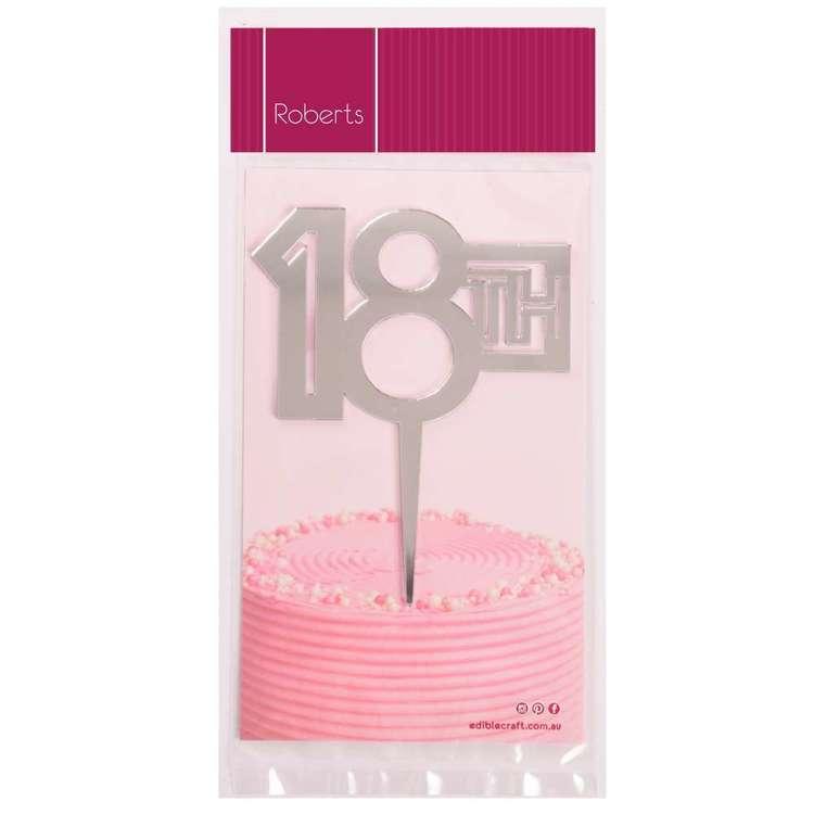 Roberts Edible Craft Cake Topper - Eighteen