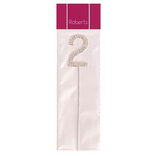 Roberts Edible Craft Diamante Topper Number 2