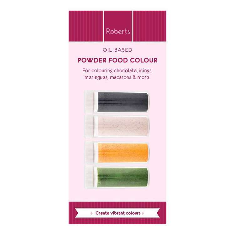 Roberts Edible Craft Oil Base Coloured Dye Powder C Pack Multicoloured