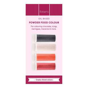 Roberts Edible Craft Oil Base Coloured Dye Powder D Pack