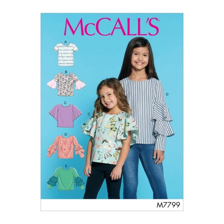 McCall's Pattern M7799 Children's & Girls' Tops