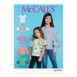 McCall's Pattern M7799 Children's & Girls' Tops