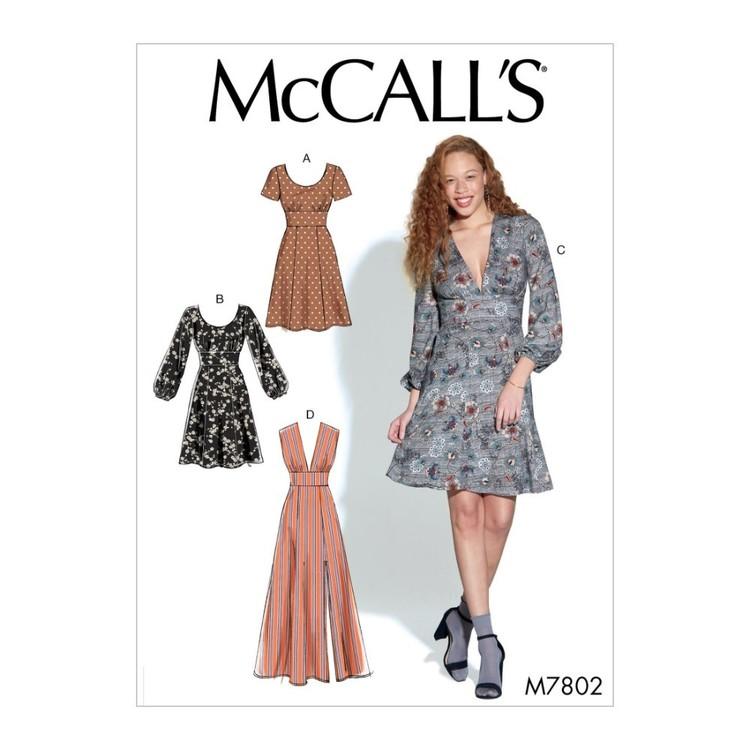 McCall's Pattern M7802 Misses Dresses