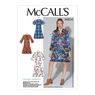 McCall's Pattern M7804 Laura Ashley Misses' Dresses