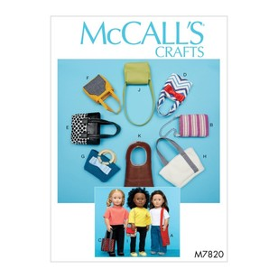 "McCall's Pattern M7820 Bags For 18"" Dolls"