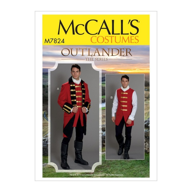 McCall's Pattern M7824 Outlander The Series Men's' Costume