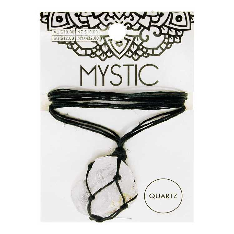 Ribtex Mystic Crystal Macrame Raw Crystal