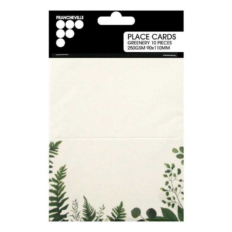 Francheville Place Cards Green Pack
