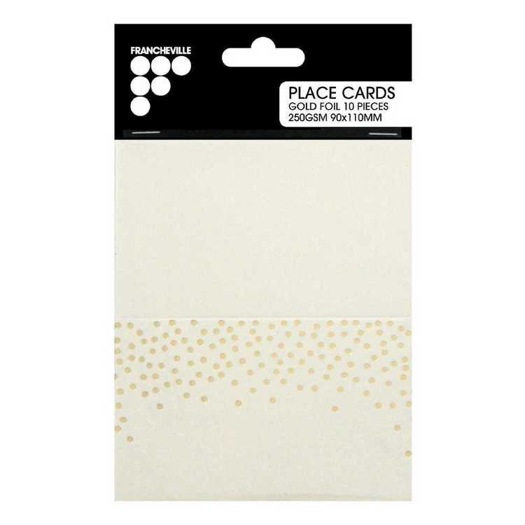 Francheville Gold Confetti Place cards Pack