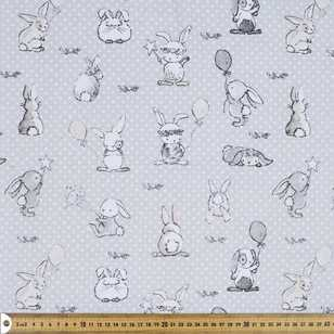 Bunny Toy Printed Flannelette Fabric