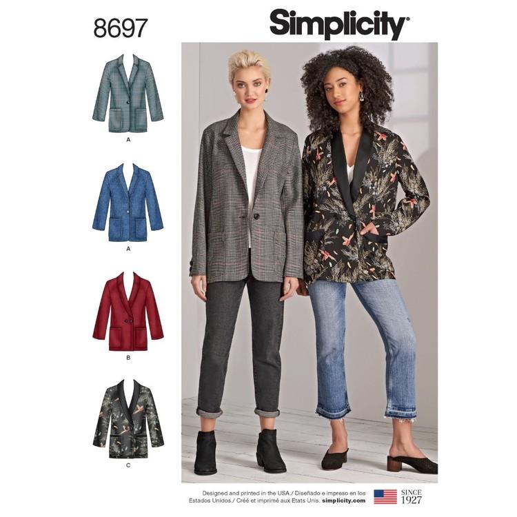Simplicity Pattern 8697 Misses' & Women's Oversized Blazers